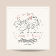 Wedding Invitation Card. Save the Date. Wedding Card. Marine Anchor