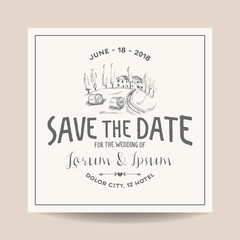 Wedding Invitation Card. Save the Date. Wedding Card. French Farm