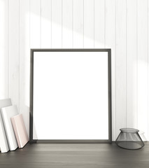 Blank frame at wall