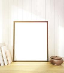 Blank frame at wall