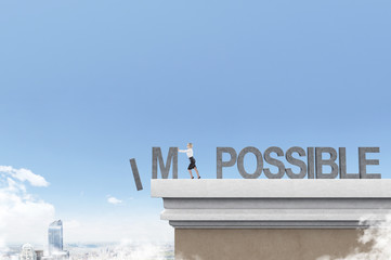 Woman making things possible