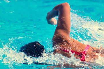 Swimming close-up
