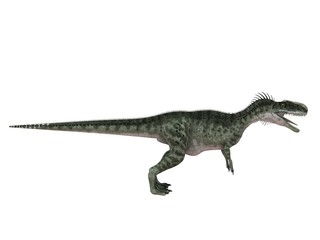 3d render of a Dinosaur inside a white stage