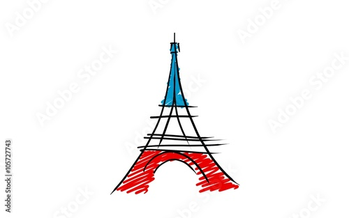 tour eiffel dessin related keywords suggestions tour. Black Bedroom Furniture Sets. Home Design Ideas