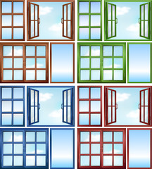 Windows in different colors