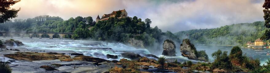 Deurstickers Watervallen Rhinefalls, Switzerland