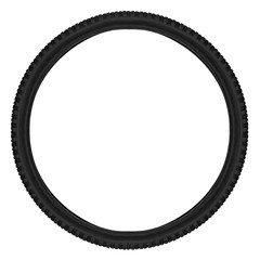 mountainbike bicycle tyre isolated on white background