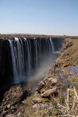 victoria falls, seen from zimbabwe