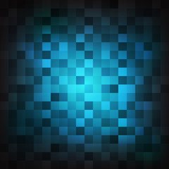 Abstract blue square shape background, Vector illustration