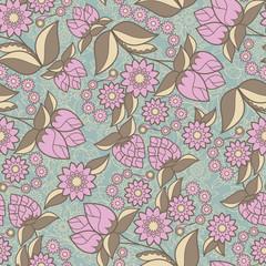 Floral design seamless background texture pattern