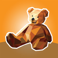 Illustration of a bear toy Teddy