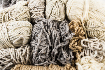 Messy Yarn in Light Neutral Colors