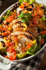 Homemade Mexican Chicken Burrito Bowl