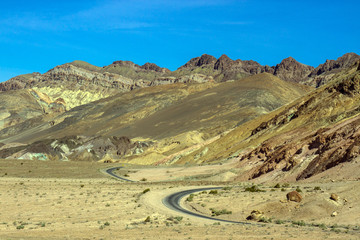 Death Valley National Park winding scenic drive
