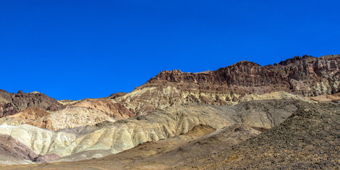 Death Valley National Park colorful bluffs on Artist Drive