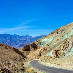 Death Valley National Park scenic Artist Drive