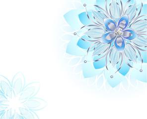 Abstract Light Blue Flower