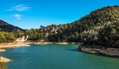 View of the Ulldecona reservoir. Spain