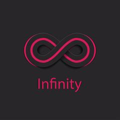 Infinity Symbol Logo. Vector Illustration