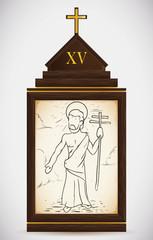 Resurrection of Jesus, Vector Illustration
