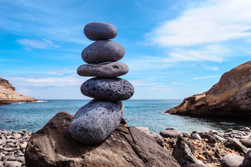 Stack on rocky coast