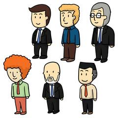 vector set of businessman