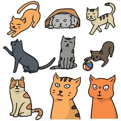 vector set of cat