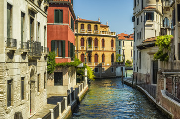 Typical city street at VENICE, ITALY