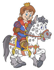 Prince on the horse