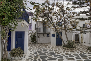 Small square in Mykonos, Cyclades, Greece