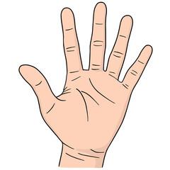vector set of cartoon hand