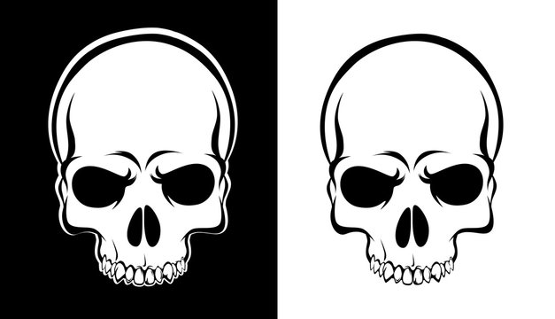 Scary Evil Skull of Skeleton