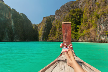 Relax On Long Tail Boat In Pileh Lagoon