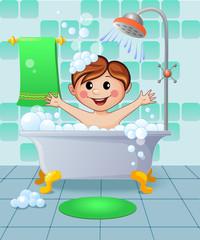 Boy in the bathroom