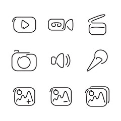 Video and multimedia set icons