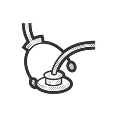 Medical Device Icon, medical earphones