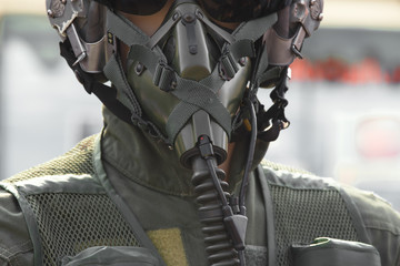 Military pilot helmet set.Air force concept.