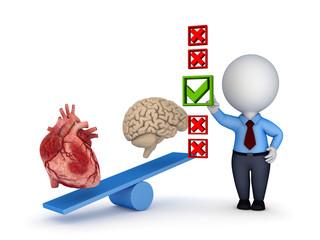 Human heart and brain.
