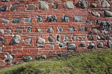 Defensive wall after restoration,fragment