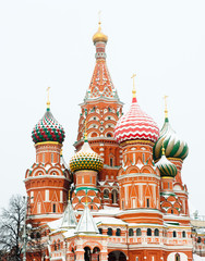 Printed kitchen splashbacks Moscow St. Basil's Cathedral on Red square, Moscow, Russia