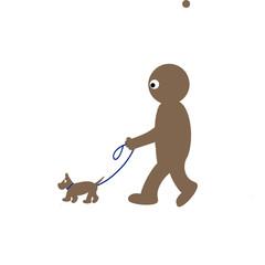 Kippy walking dog