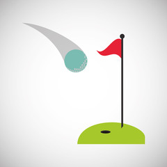 Golf icon design