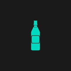 beer bottle flat icon