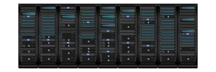 nse1 NewServerEdition - data center - modern server room with scanner door lock - 3to1 g4309