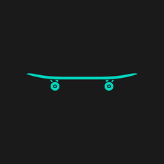 icon of skateboard