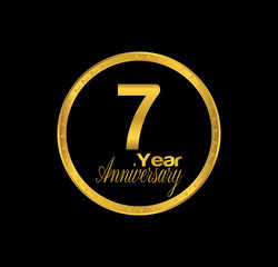 7 anniversary with black golden ring