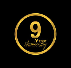 9 anniversary with black golden ring