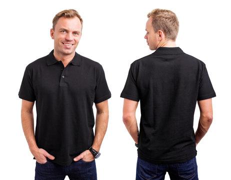 Man in black button up shirt
