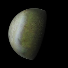 Triton Planet Solar System space isolated. Elements of this image furnished by NASA