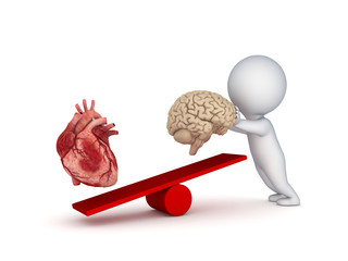 Human heart and brain.